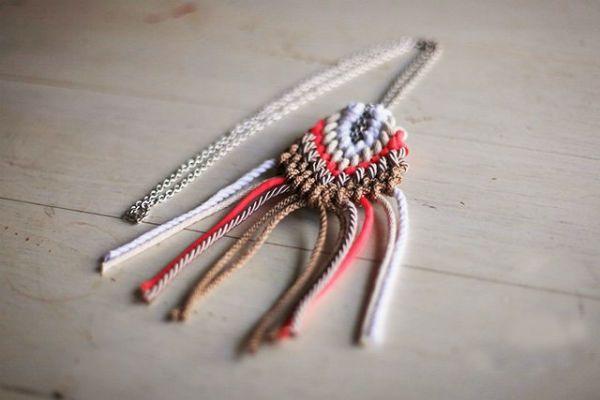 Плетение кулона шаг 10 фото