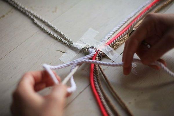 Плетение кулона шаг 4 фото