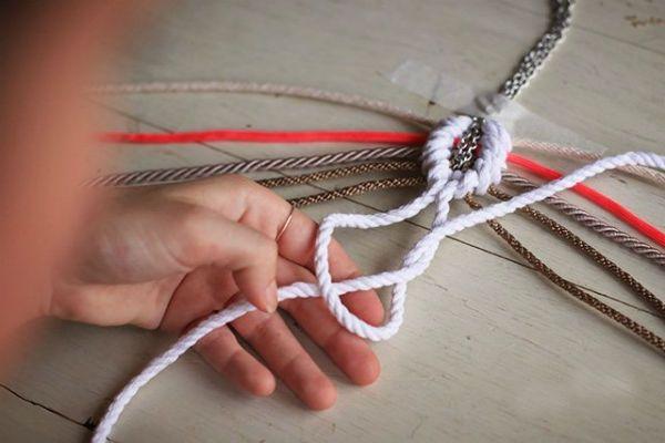 Плетение кулона шаг 6 фото