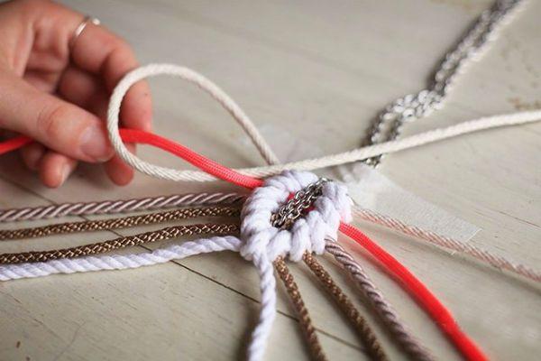 Плетение кулона шаг 7 фото
