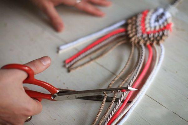 Плетение кулона шаг 9 фото