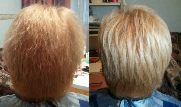 Полировка на коротких волосах фото