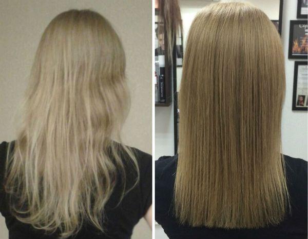 Полировка волос в салоне фото