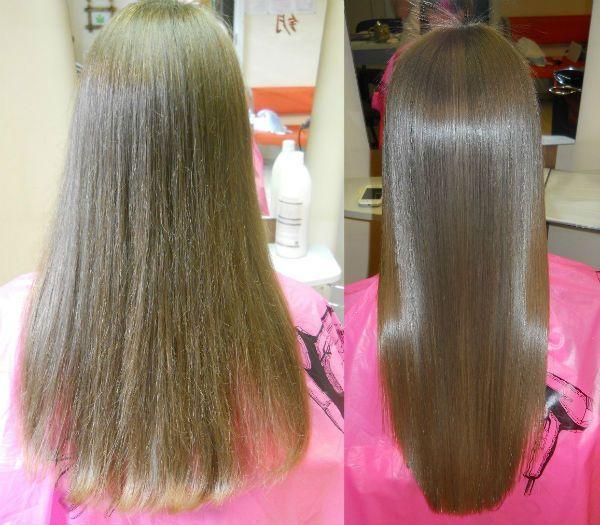 Процедура полировки волос фото