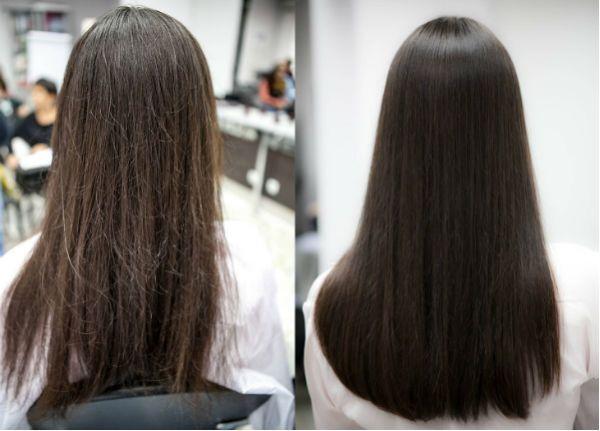 Волосы до и после полировки фото
