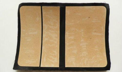 Чехол для планшета из кожи на ткани фото