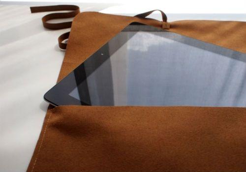 Чехол для планшета из замши 2 фото