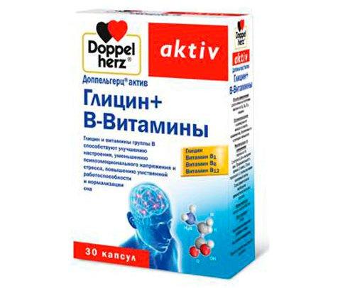 Доппельгерц актив Глицин+В-витамины фото