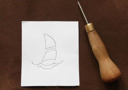 Эскиз вышивки для чехла из кожи фото