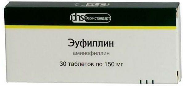 Эуфиллин таблетки от кашля фото