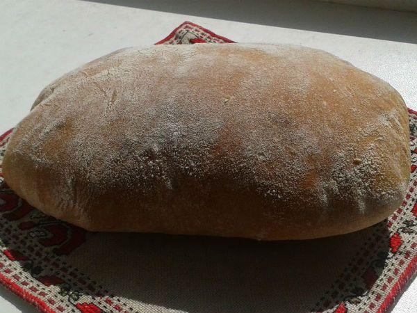 Бездрожжевой хлеб на закваске в духовке фото