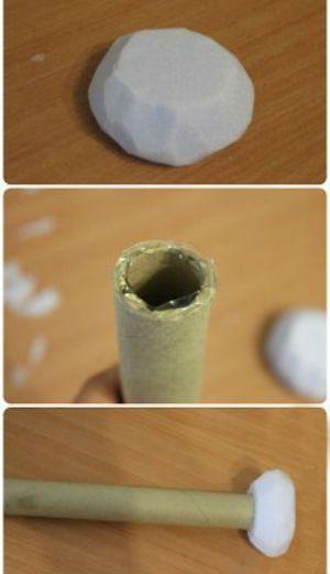 Заготовка для букета из киндеров фото