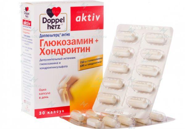 Доппельгерц актив Глюкозамин+Хондроитин для суставов фото