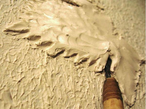 Плоская лепка листьев винограда шаг 9 фото