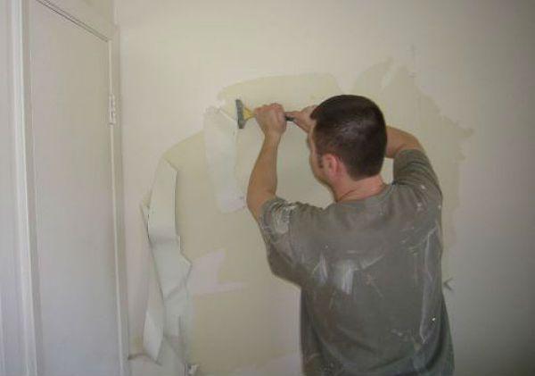 Подготовка стены фото