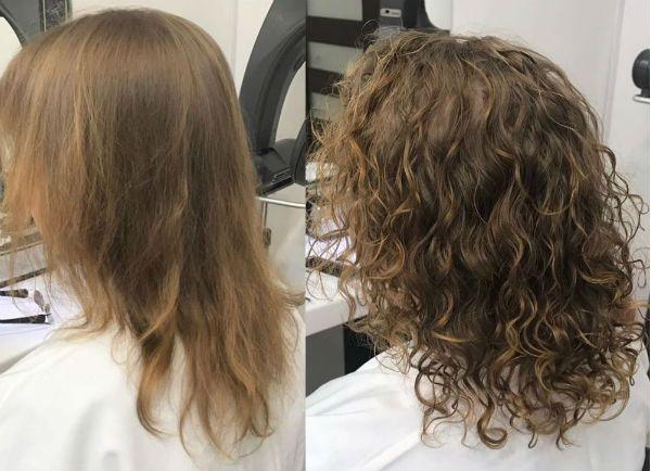 Процедура биозавивки волос фото