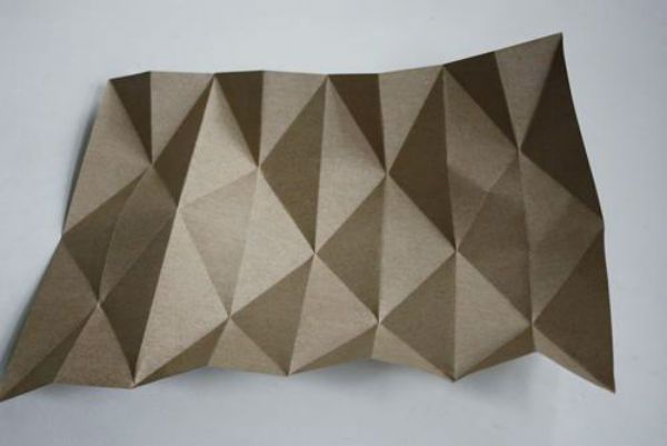 Бра из бумаги оригами шаг 1 фото