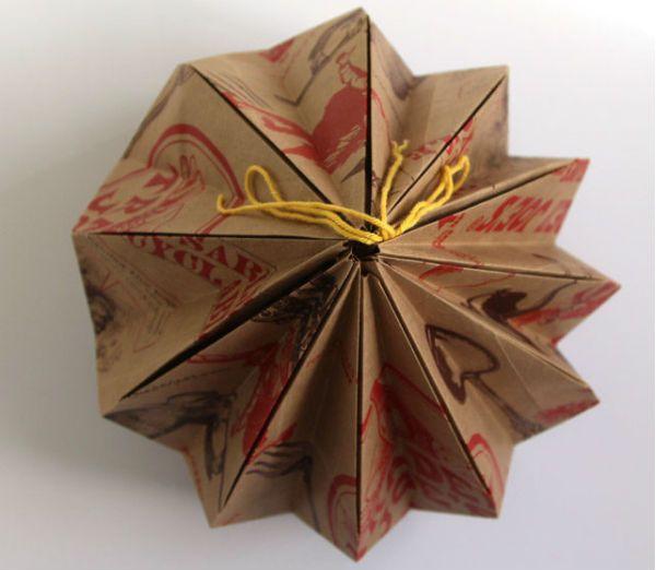 Бра из бумаги в технике оригами шаг 8 фото