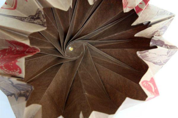 Бра из бумаги в технике оригами шаг 9 фото