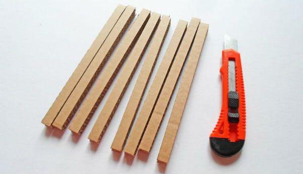 Квадратный бра из картона шаг 8 фото