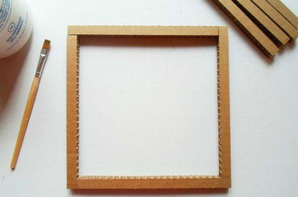 Квадратный бра из картона шаг 9 фото