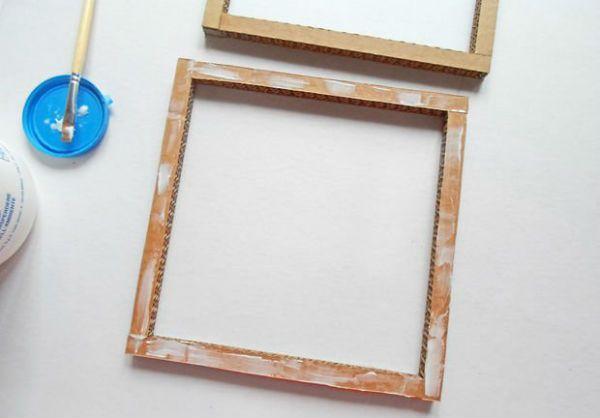 Квадратный бра из картона шаг 10 фото