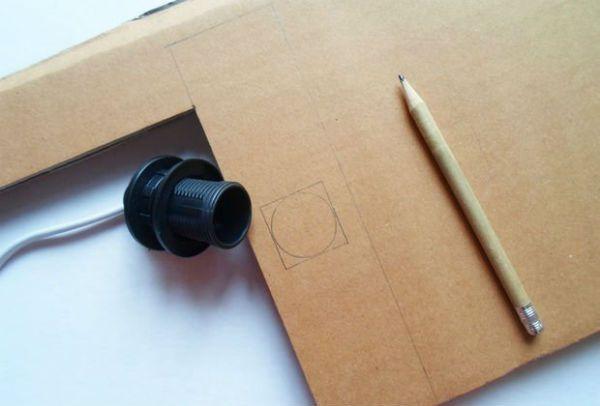 Квадратный бра из картона шаг 12 фото