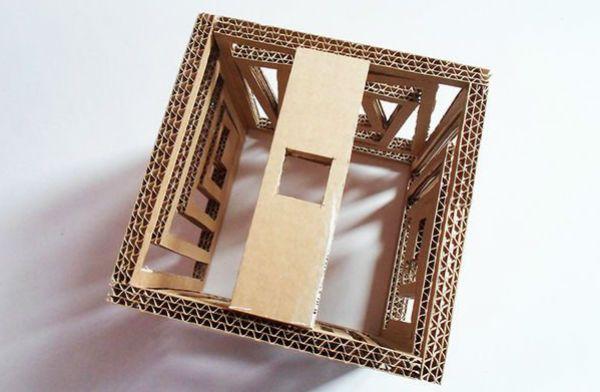 Квадратный бра из картона шаг 14 фото