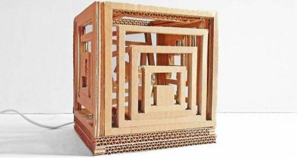Квадратный бра из картона шаг 15 фото