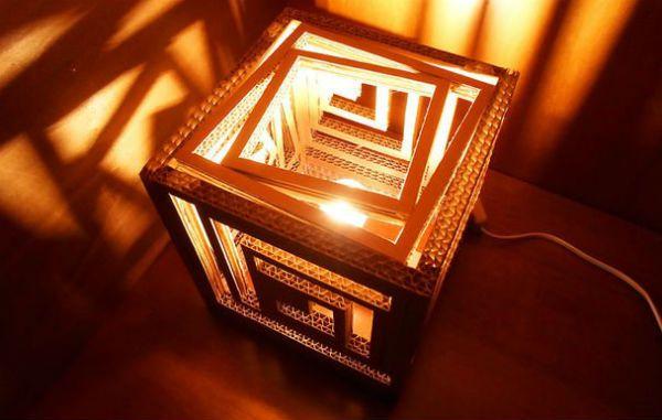 Квадратный бра из картона шаг 16 фото