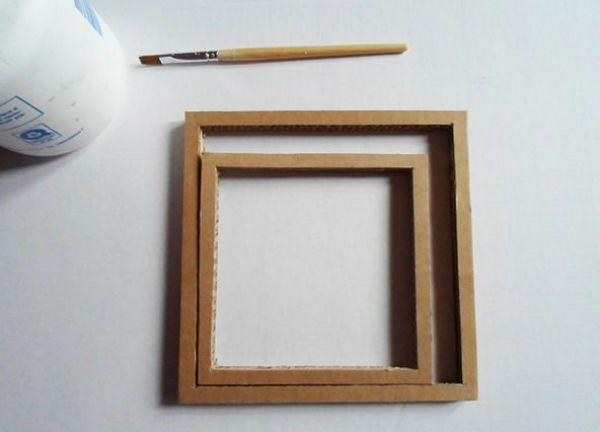 Квадратный бра из картона шаг 3 фото