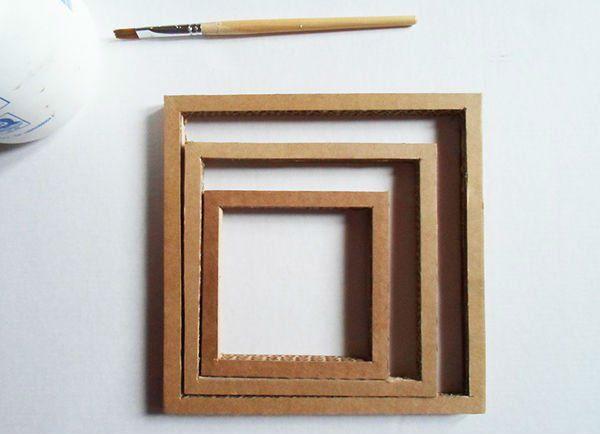 Квадратный бра из картона шаг 4 фото