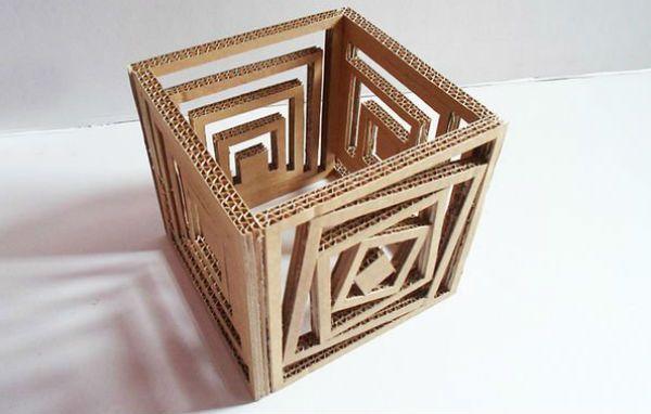 Квадратный бра из картона шаг 6 фото