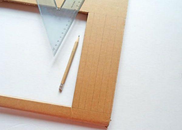 Квадратный бра из картона шаг 7 фото