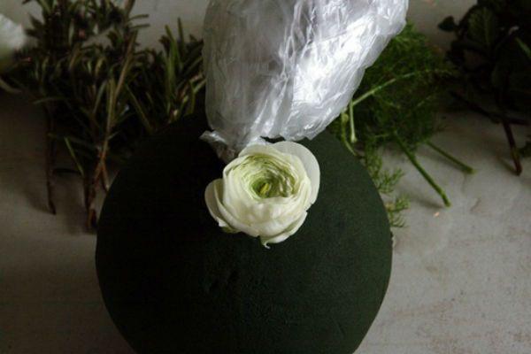 Свадебный букет шар шаг 8 фото