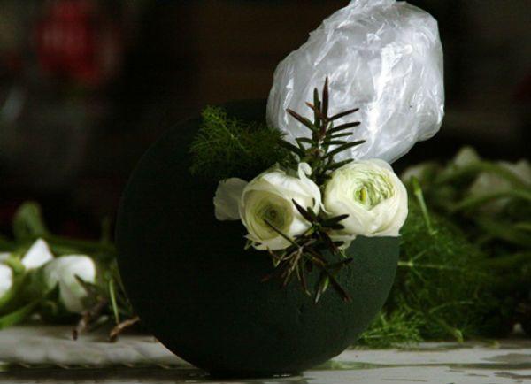 Свадебный букет шар шаг 9 фото