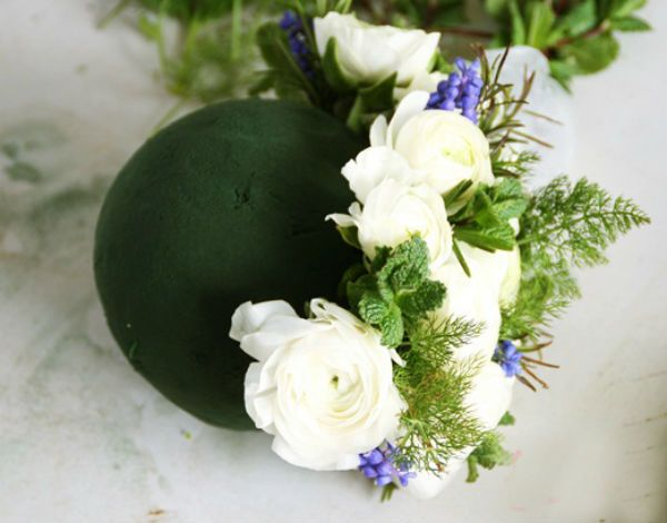 Свадебный букет шар шаг 10 фото