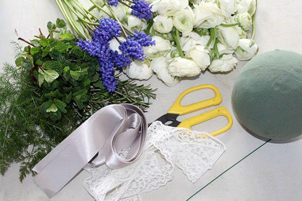 Свадебный букет шар инструменты фото