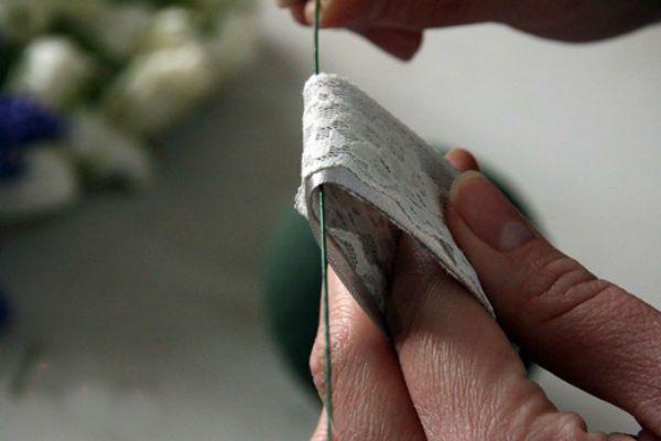 Свадебный букет шар шаг 1 фото