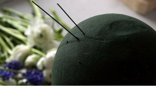 Свадебный букет шар шаг 4 фото