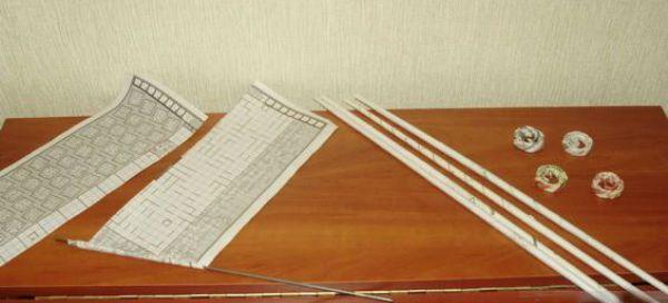 Фоторамка из газетных трубочек шаг 2 фото