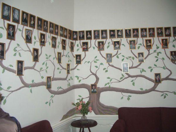 Генеалогическое дерево барельеф на стене фото