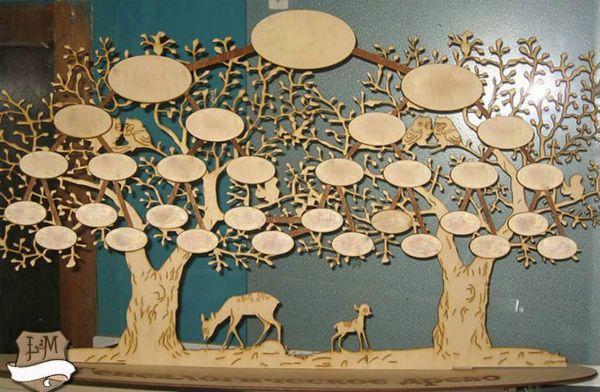 Генеалогическое дерево из фанеры фото