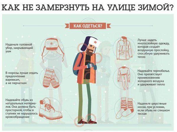 как одеться зимой