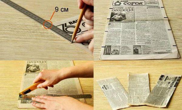 Коробка из газетных трубочек шаг 2 фото