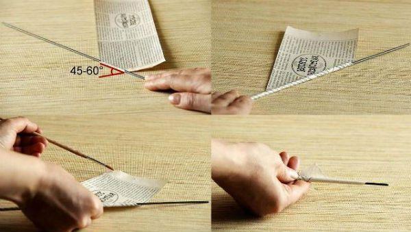Коробка из газетных трубочек шаг 3 фото