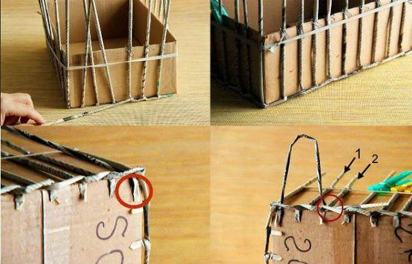 Коробка из газетных трубочек шаг 6 фото