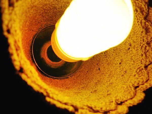 Крепление абажура с лампой фото