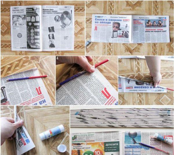 Лапти из газетных трубочек шаг 1 фото