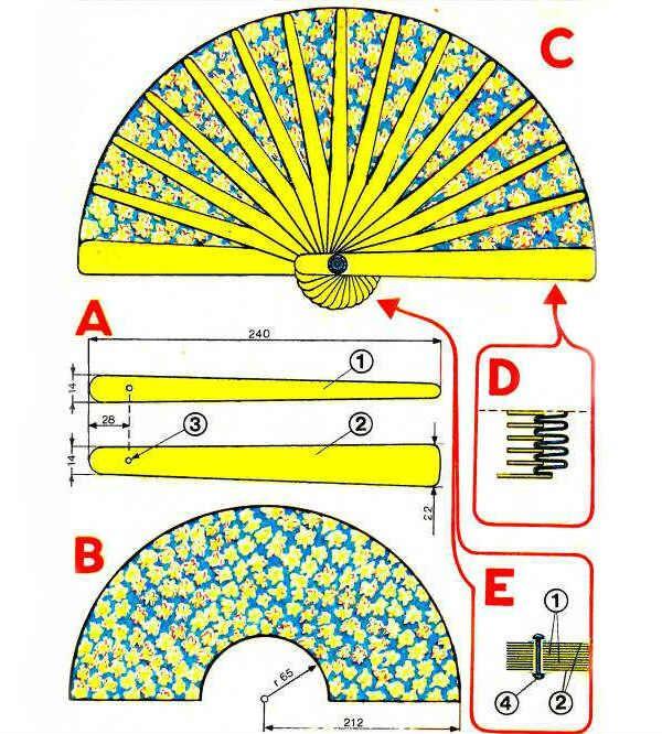 Шелковый китайский веер схема